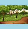 beautiful green nature landscape vector image vector image