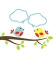 birds with speech bubbles vector image vector image