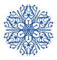 blue snowflake icon simple style vector image
