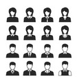 businessman and businesswoman icon set vector image vector image