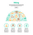 camping hiking card vector image vector image