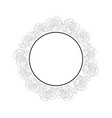carnation flower outline banner wreath vector image
