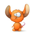 cartoon mouse with big ear vector image vector image
