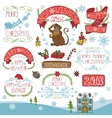 ChristmasNew Year 2016 decorationlabels kit vector image vector image