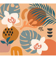 collage contemporary orange vector image
