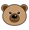 cute bear cute animal faces vector image vector image