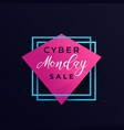 cyber monday sale poster banner design vector image