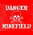 danger minefield vector image vector image