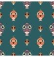 Dark green seamless pattern owl background vector image vector image