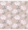 Delicate roses background seamless pattern vector image vector image