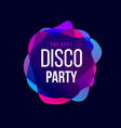 disco party trend frame typography vector image