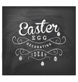 Easter Egg Decorating Ideas Typographical Text vector image vector image