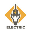 electric repair and electrician service and works vector image vector image