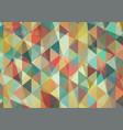 flat retro color geometric triangle background vector image vector image