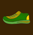 flat shading style icon sports shoes vector image vector image