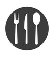 fork spoon knife in flat style on white background vector image vector image