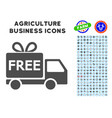 free delivery icon with agriculture set vector image