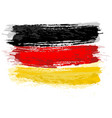german flag painted with a brush vector image