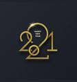 golden 2021 new year logo