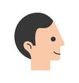 head human profile icon vector image vector image