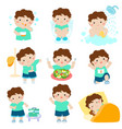 healthy hygiene for boy cartoon
