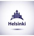 Helsinki City skyline silhouette vector image vector image