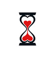 hourglass and heart icons vector image vector image