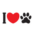 i love animals dogs vector image