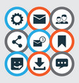 internet icons set collection of partnership vector image vector image