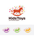 kids toys logo vector image