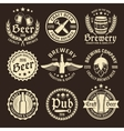 Light Beer Emblem Set vector image vector image