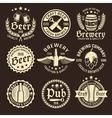 light beer emblem set vector image vector image