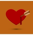 modern heart icon with blood vector image