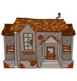 old house with broken windows and door vector image vector image