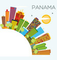 panama skyline with color buildings blue sky and vector image vector image