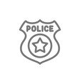 police badge line icon vector image