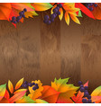 seamless natural background with wooden board and vector image vector image