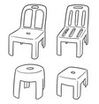 set chairs vector image vector image