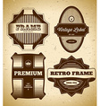 Set of big vintage labels vector image