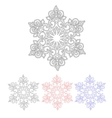 Set of four isolated pattern snowflakes vector image