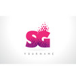 sg s g letter logo with pink purple color and vector image vector image