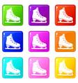skates icons 9 set vector image vector image