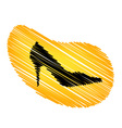 Sketched shoe vector image