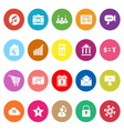 Smart phone flat icons on white background vector image vector image