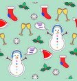 snowman sock speech bubble mistletoe snowflake vector image vector image