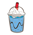 soft drink with float vector image vector image