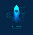 start up business infographics icons and vector image