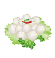 Steamed Sago Palms with Sweet Pork vector image vector image