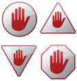 Stop Hand Signs vector image vector image