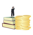 student get scholarship to study in university vector image vector image
